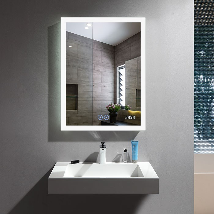 24 x 32 In Vertical LED Bathroom Mirror with Antifog and
