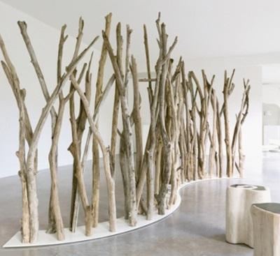24 interesantes formas de decorar con troncos  Decorarnet
