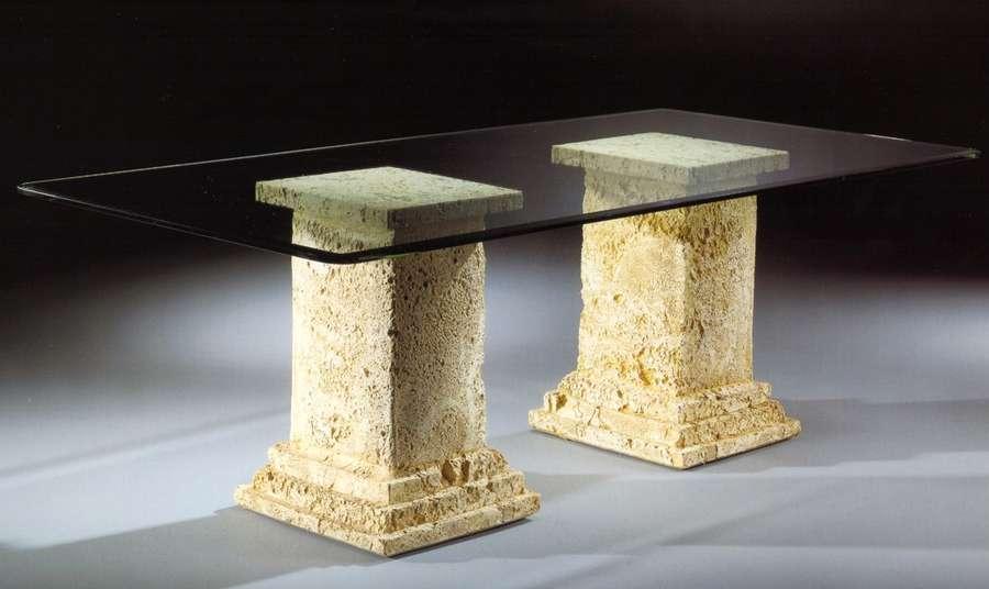 Mesa comedor 2 pilares 220x110x75 cm  Decorar con Arte
