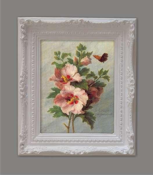 Cuadro Flores con mariposa 43x36 cm  Venta cuadros