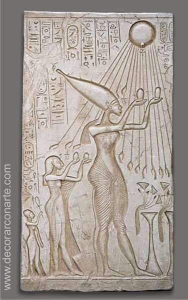 Relieve egipcio Akenatn 74x40x4cm  Venta de bajorrelieves