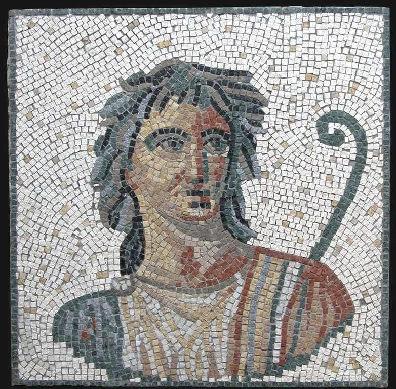 Mosaico romano di Apollo 60x60cm Fabbricazione di mosaici romani