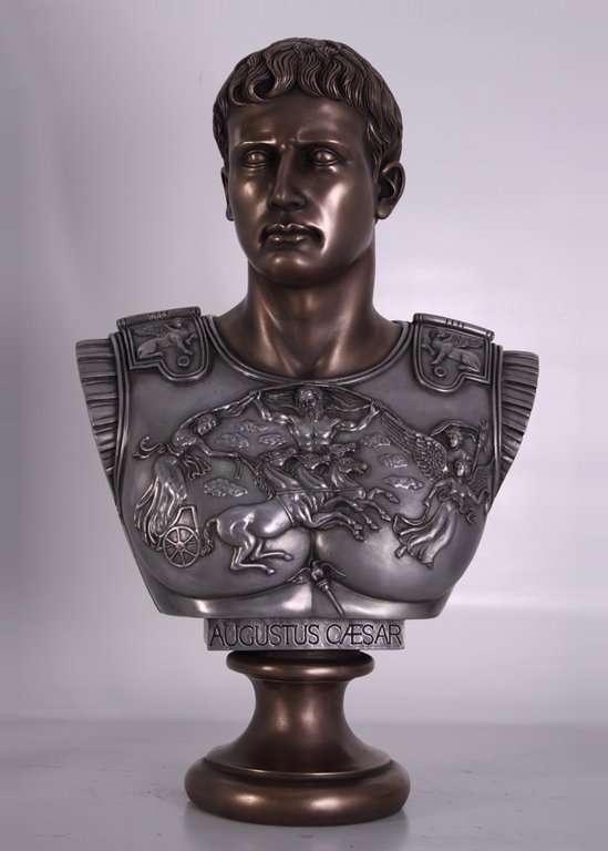 Busto de Csar Augusto Bronce 82x30x52cm  Venta de