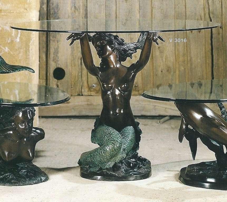 Mesa en bronce Sirena grande 60x88x86cm  Venta de muebles