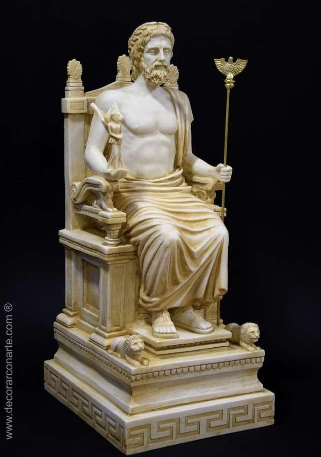 Escultura Zeus Alt 59 cm  Esculturas decoracin
