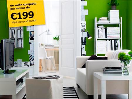 Lack Ikea Decorar saln completo por 199  Decorar Hogar