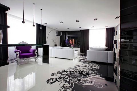 Casa en blanco y negro contempornea  Decorar Hogar