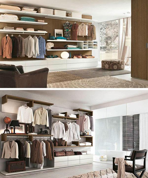 Fotos de armarios abiertos para dormitorios modernos