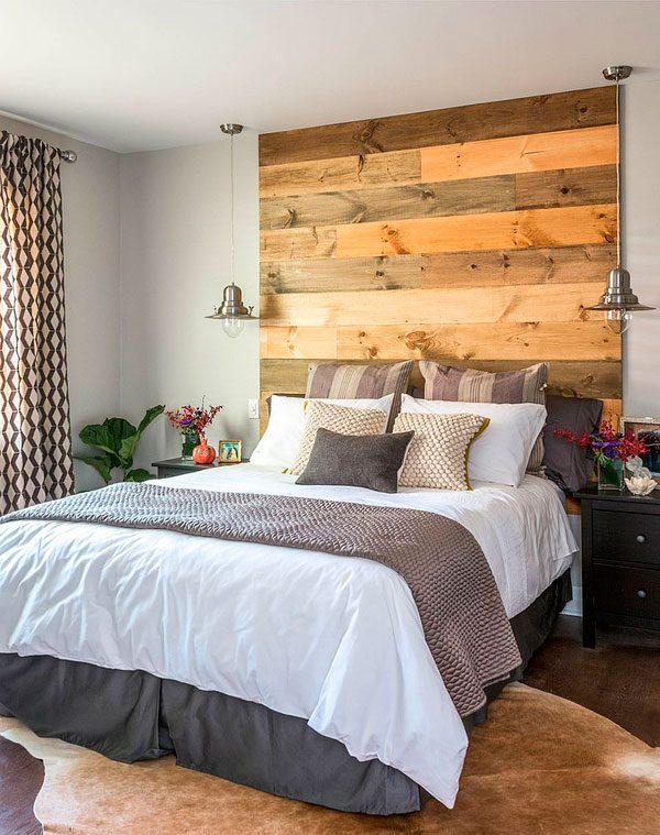 20 Dormitorios con Pared de Madera Reciclada  Me Encantan