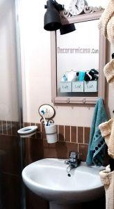 Espacio reducido del baño