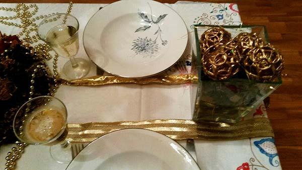 Small&LowCost: reutilizar adornos para una mesa de Navidad