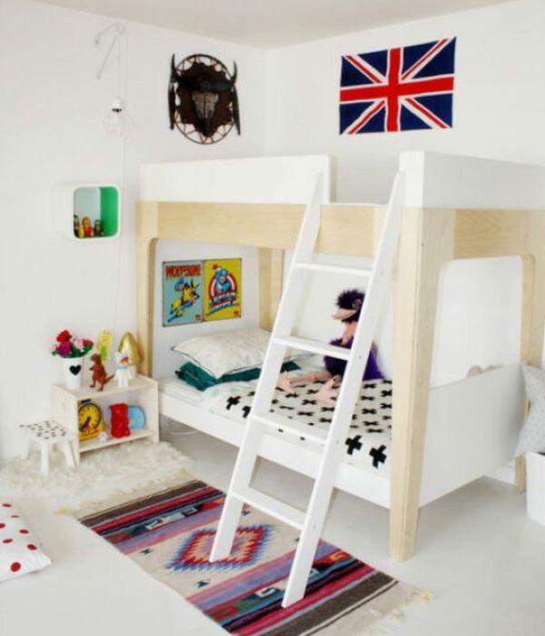 Antes y después de dormitorio infantil compartido