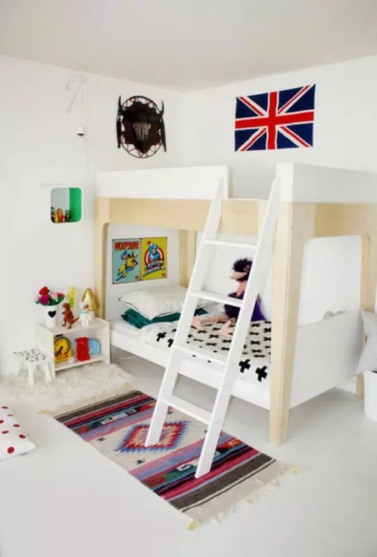 Decoración original en una habitación infantil