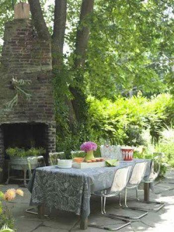 Mesa de comedor para el jardín