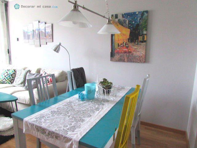 Salón-comedor con color