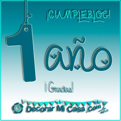 Celebramos el primer aniversario del blog con premio!