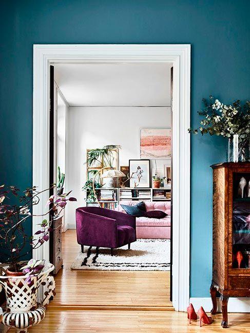 Glamour en casa de una interiorista