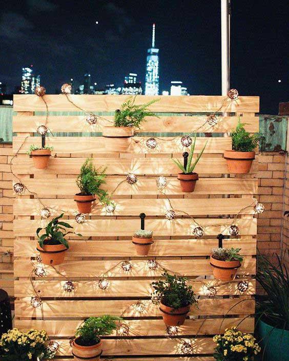 Iluminación para terrazas y palets