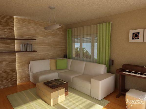 Sala De Estar Com Verde