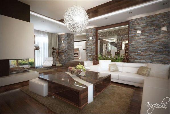 Luminosas y acogedoras Salas de Estar modernas para la