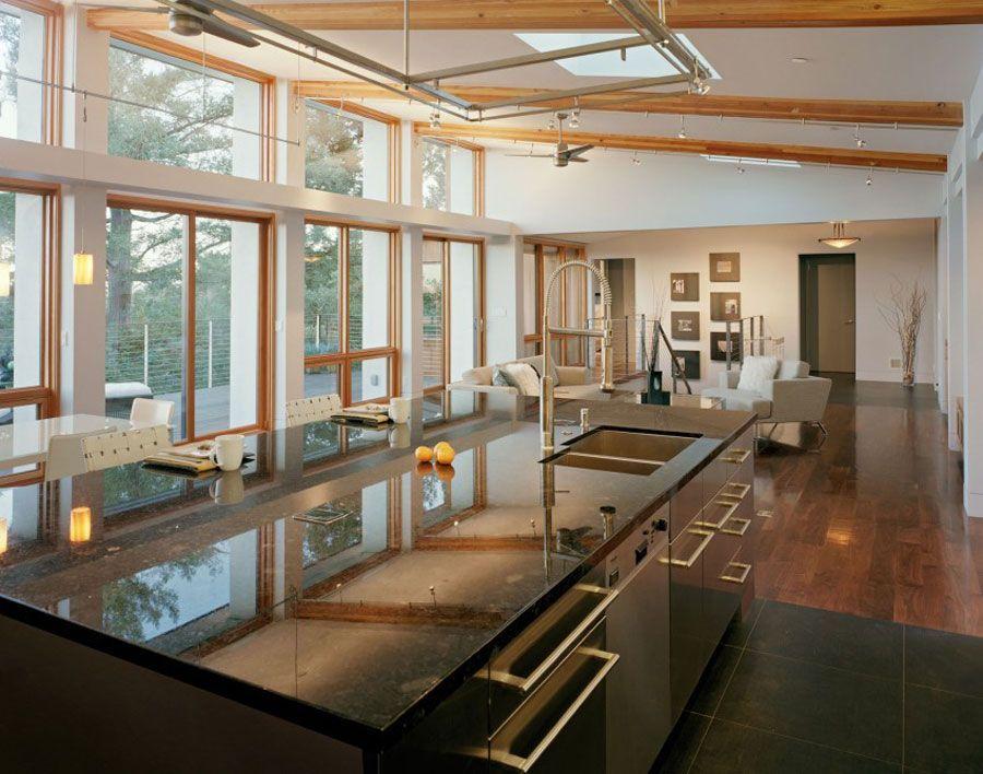 Diseo de Casa con varios elementos de Madera por Kaplan