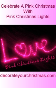 Pink Christmas Lights