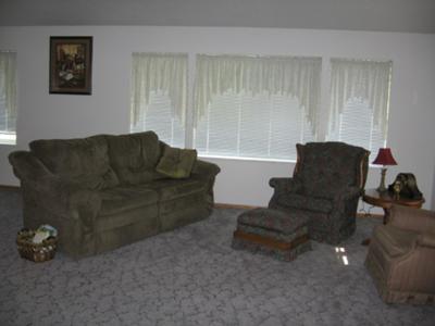 Gray Carpet Sage Furniture White Walls