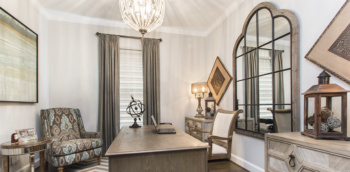Sophisticated Neutral Home Office  Decorating Den Interiors