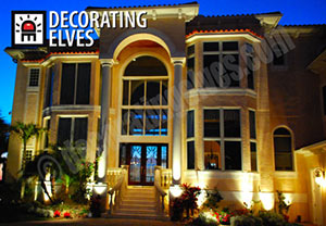architectural lighting decorating elves