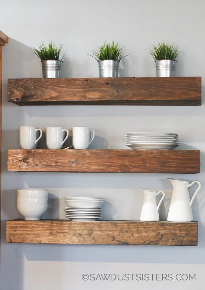 22 Easy DIY Floating Shelves  Decorating Your Small Space
