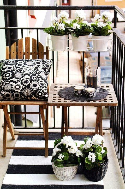 Shabby Chic Small Porch Design