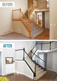 DIY Stair Railing Projects & Makeovers | Decorating Your ...