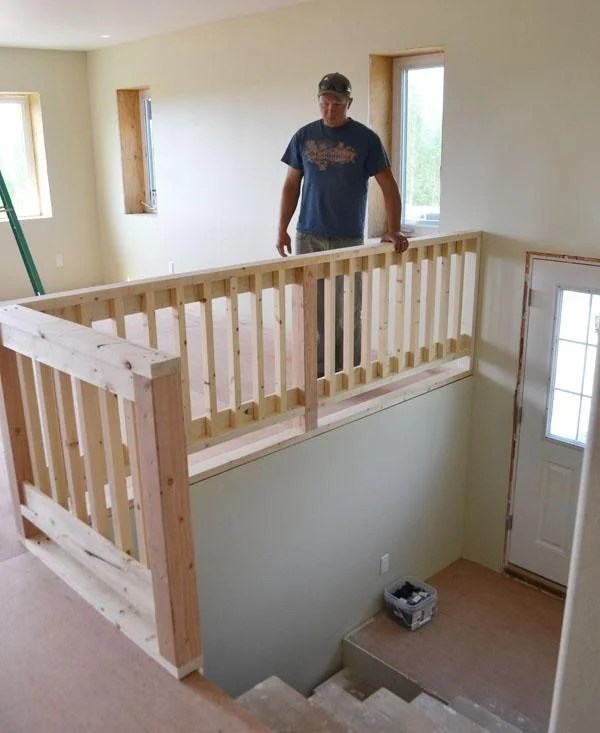 Image Result For Indoor Wood Stair Railing Designs