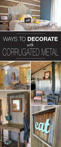 Corrugated Metal Decor : Ideas & Projects | Decorating ...