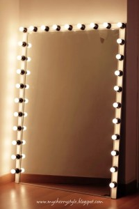 Glam! DIY Light Up Vanity Mirror Projects