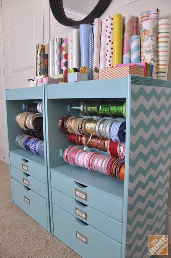 Gift Wrap Organizing  Ideas  Projects  Decorating Your Small Space