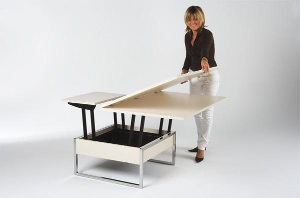 Une Table Basse Relevable Pour Un Sejour Hors Du Commun