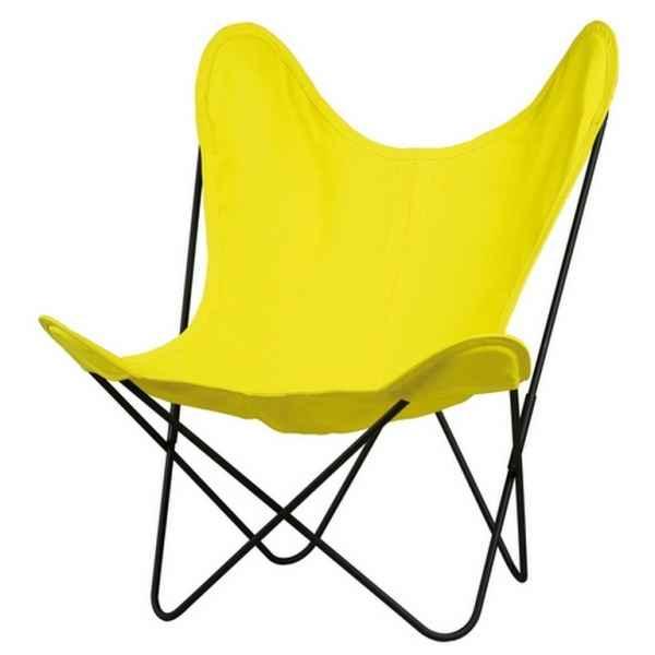 fauteuil butterfly en cuir dans