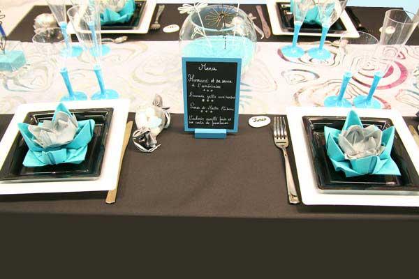 Deco De Table Noir Et Blanc Ambiance Soire Chic Pour Le