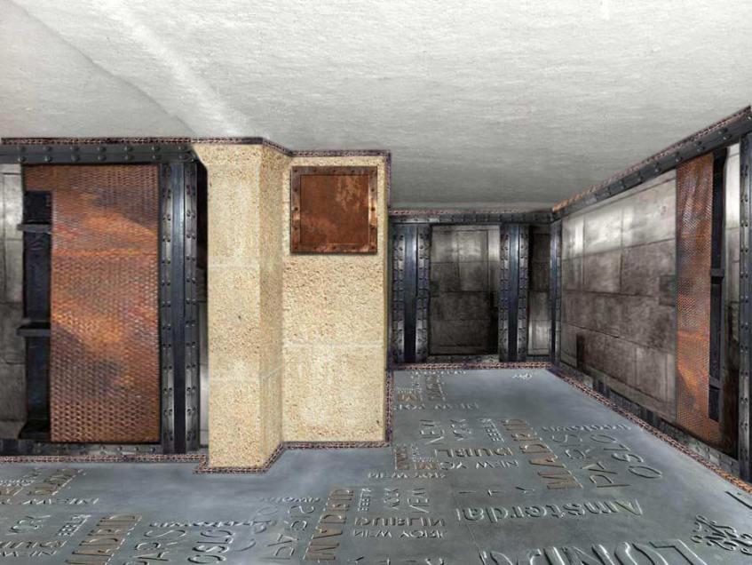 restaurant style industriel murs métallisés