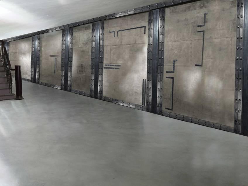 restaurant futur style industriel métallisé