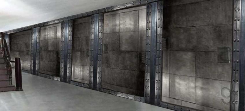 salle de sport mur métalliques industriel