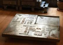 boutique style industriel table