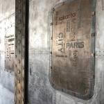 Panneau industriel béton et Trompe l'oeil métal