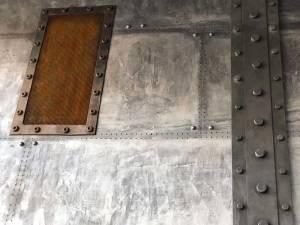 Fausse plaque métal style industrielle