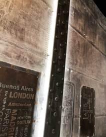 Enseignes décoration de murs style industriel relief 3D métallisé