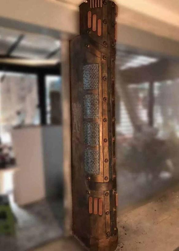 colonne boulonnée et customisée