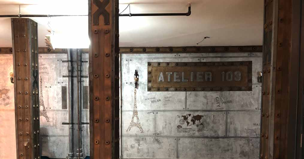 Décoration sur BA13 avec IPN style Eiffel