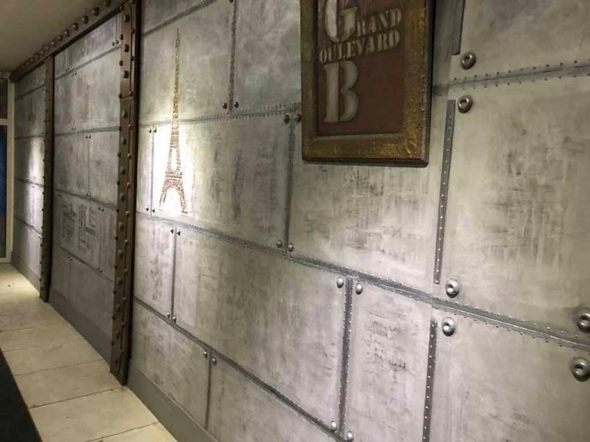 murs métal avec IPN style Eiffel