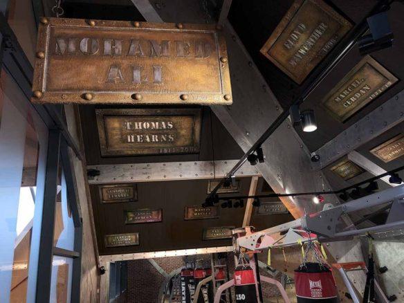 Enseigne métallique publicitaire salle de boxe plaques boxeurs célèbres